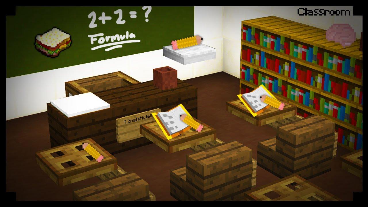 Znalezione obrazy dla zapytania minecraft classroom