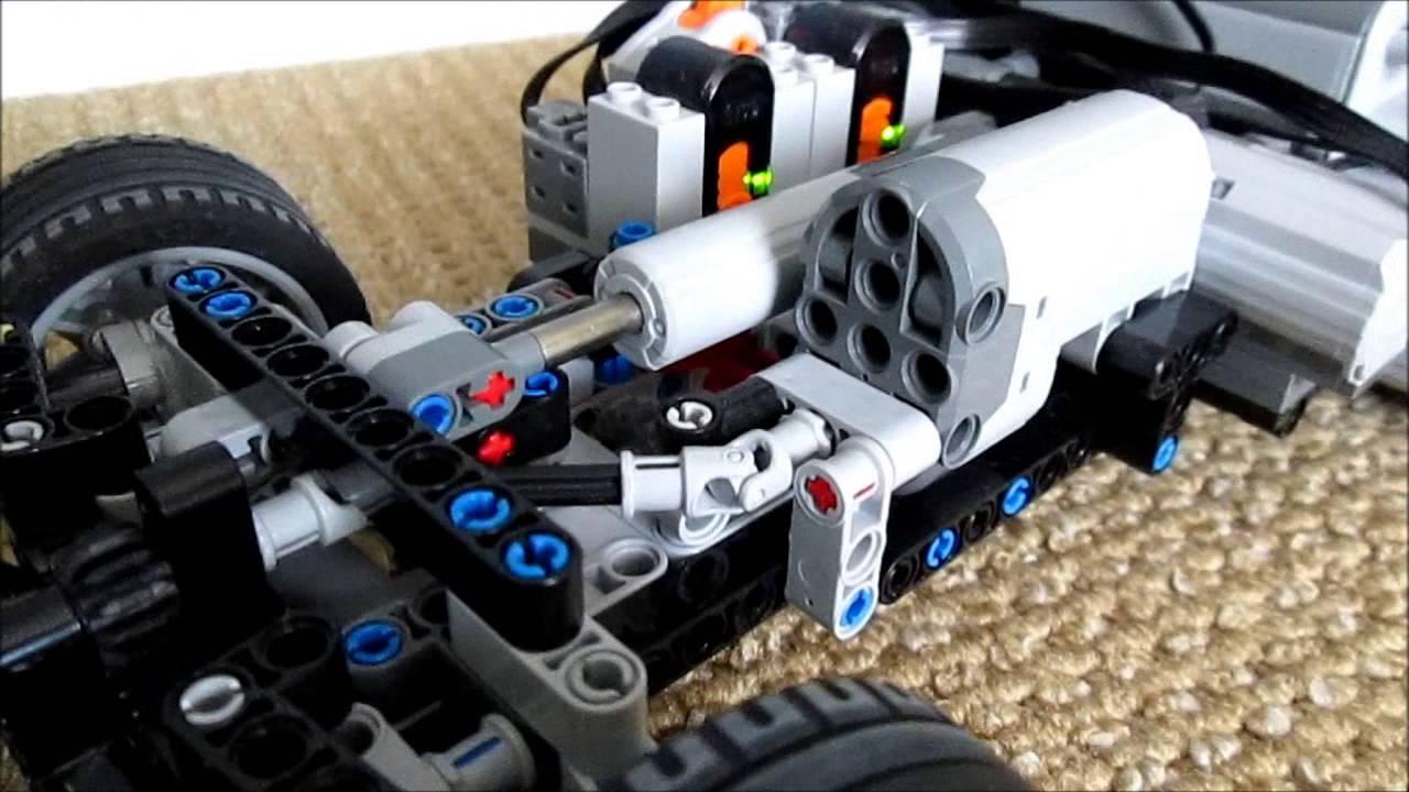 how to make a lego four wheel dirve rc car