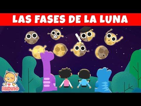 Las Fases De La Luna | Luna Para Niños | HiDino Canciones Para Niños