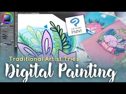 Traditional Artist Tries Digital Art // Clip Studio Paint Speedpaint