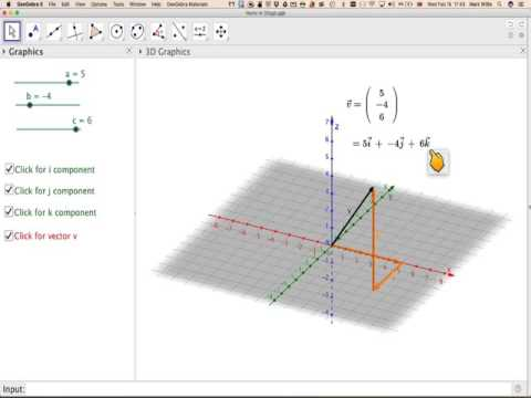 Position vectors in component form in 3D