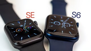 Apple Watch Series 6 vs Apple Watch SE - Unboxing, Setup & Comparison!