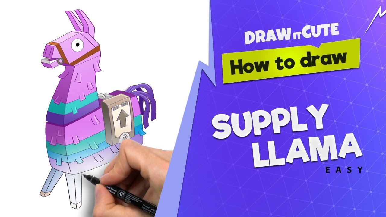 It is an image of Smart Fortnite Llama Drawing