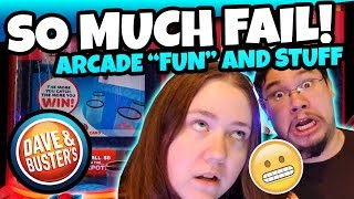 So Much Failure! Playing So Many Fun Games At Dave And Busters Arcade Run! Teamcc