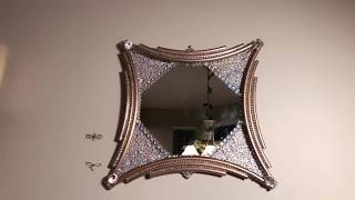 How To Make Glam Dollar Tree DIY Mirror Decor Inspired Wall Mirror Creating Elegance For Less 2019