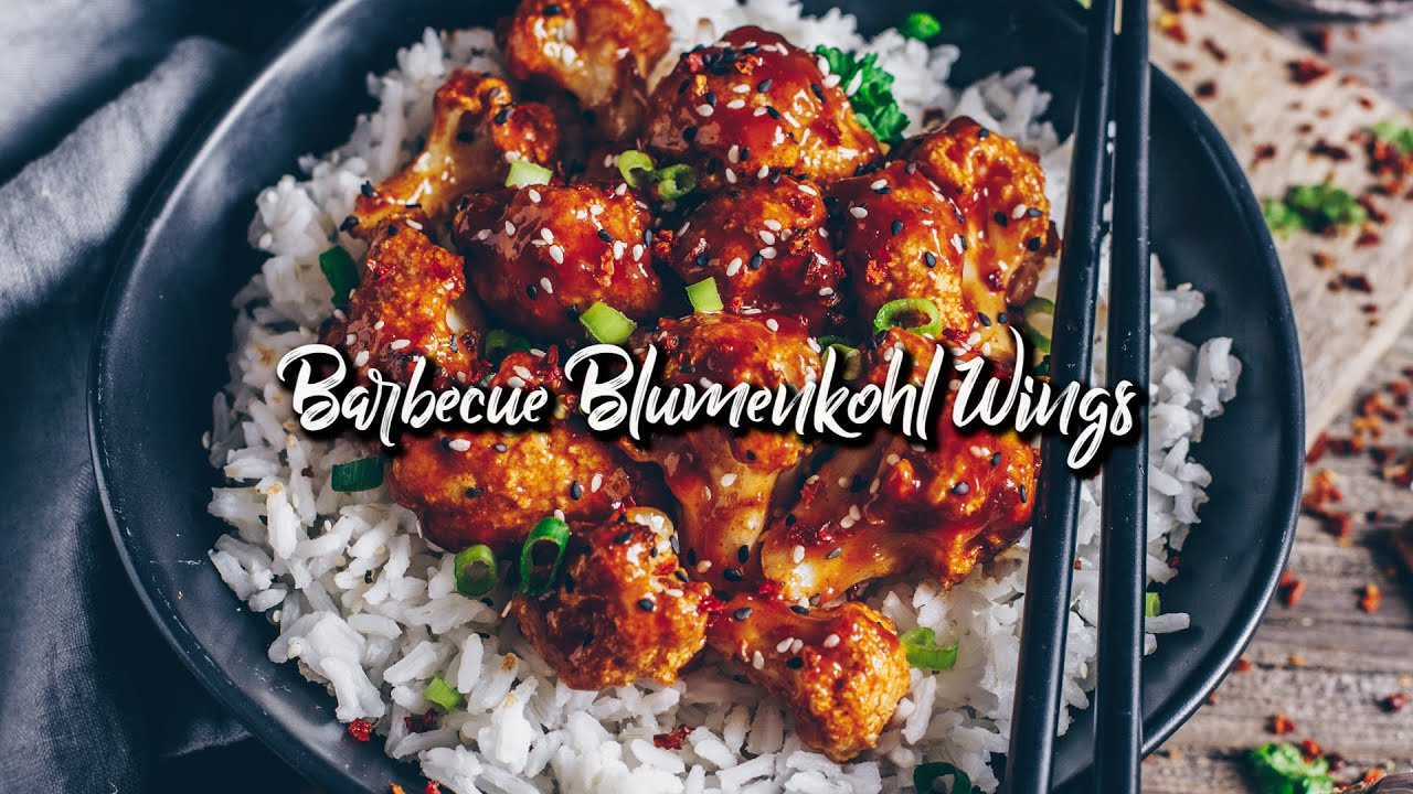 Barbecue Blumenkohl Wings - vegan & glutenfrei * Rezept