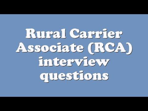 Rural Carrier Associate Rca Interview Questions Youtube