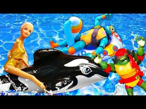 Черепашки Ниндзя в отпуске! Игрушки супергерои - Мультики для детей
