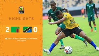 HIGHLIGHTS   Total CHAN 2020   Round 1 - Group D: Zambia 2-0 Tanzania