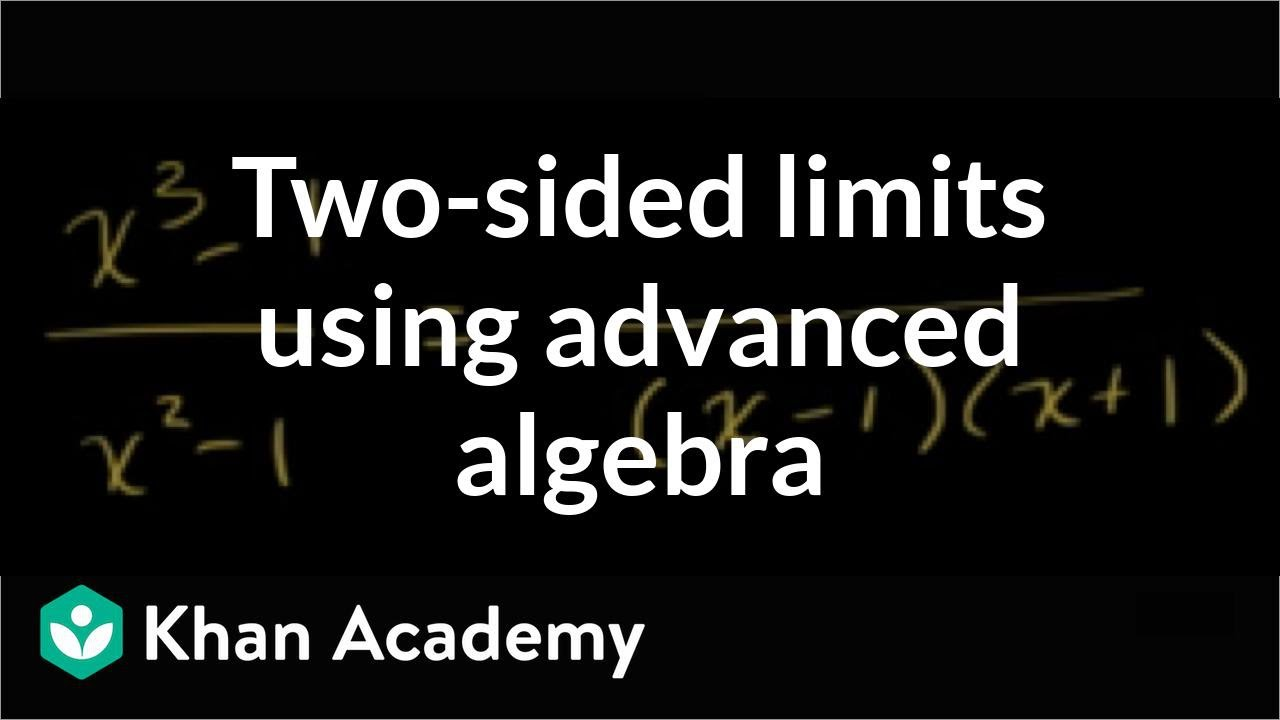 Finding limits by factoring (cubic) (video) | Khan Academy