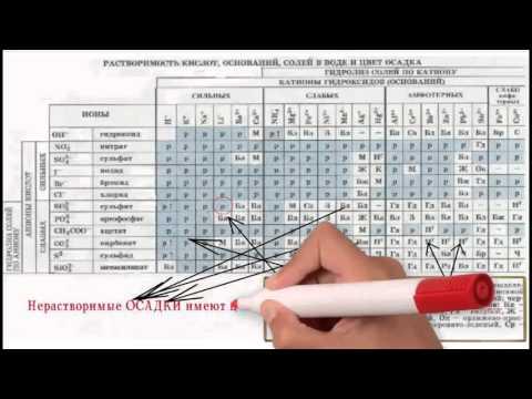 Секреты таблицы растворимости Химия