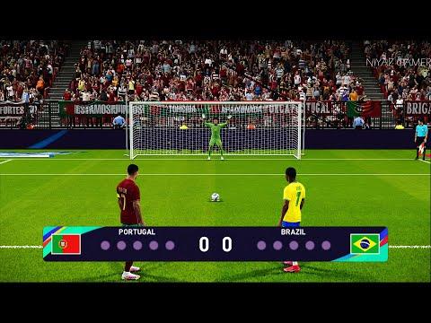 PES 2021 | PORTUGAL vs BRAZIL | Penalty Shootout Nacional Match | Gameplay PC - C.Ronaldo vs Brazil