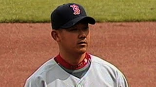 Dice-K fans 10, winning his MLB debut