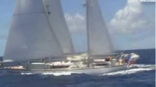 Amelit sailing outside St Kitts