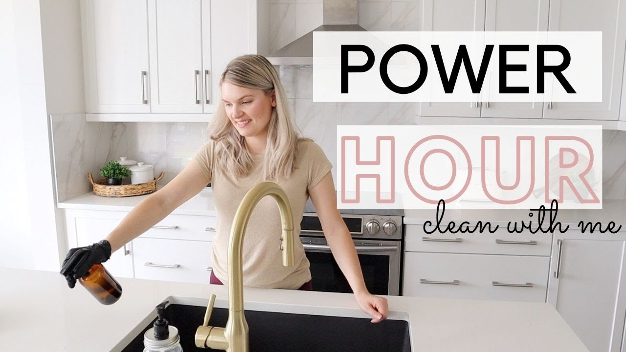 Power Hour Clean With Me || !!Messy House Cleaning!! || Cleaning Motivation 2020
