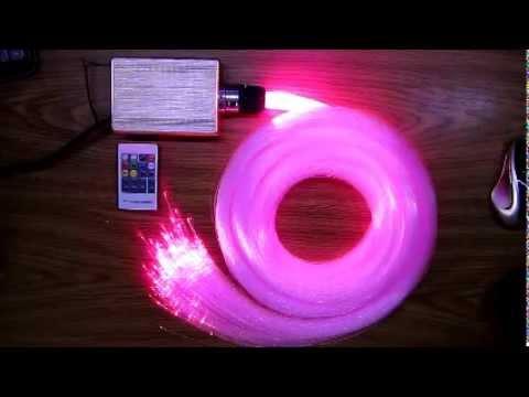 KIT FIBRA OTTICA RF 16W CIELO STELLATO 300 PUNTI LUCE 0,75mm LED RGB 220v LUCI - YouTube
