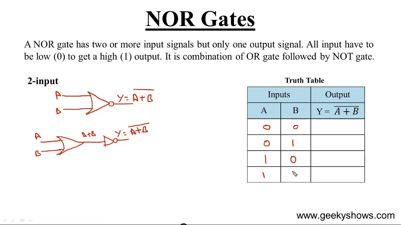 Nor Gate Hindi Youtube Circuit Diagram For