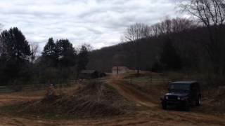CR & YZ250 jumping Rubicon Jeep