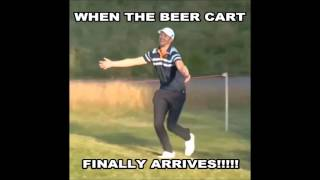 When the beer cart finally arrives! II Golf Gods