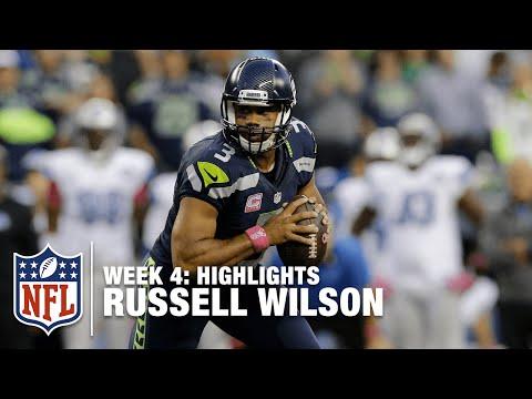 Russell Wilson Highlights (Week 4)   Lions vs. Seahawks   NFL