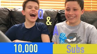 10,000 Subs Q&A with Ethan and BRYTON from Ninja Kidz TV