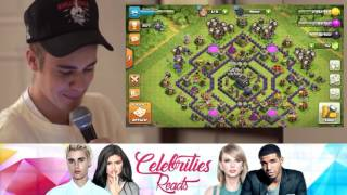 Justin bieber reacts to clash of clans!!!!!!!!!!   Justin Hates my videos?