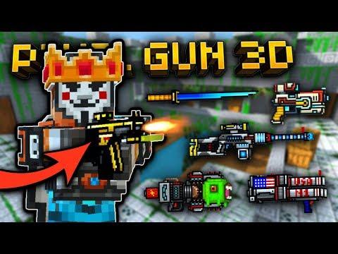 Using All My FAVORITE Weapons in Pixel Gun 3D!!
