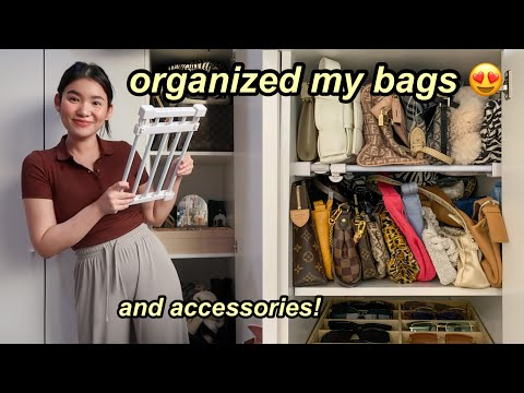 vlog | Organizing My Bags + Accessories! TURNED OUT SO NICE 😍 | Toni Sia
