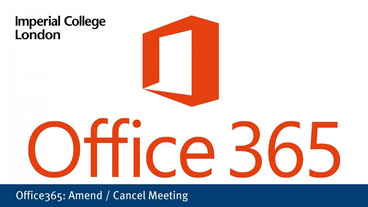 Office365: amend/cancel a meeting - YouTube