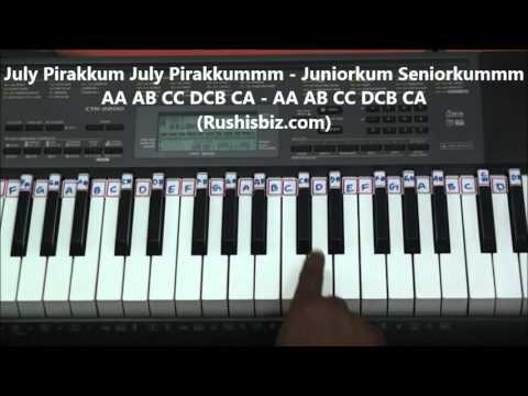 Mustafa Mustafa Piano Tutorial (Tamil) - Kadhal Desam