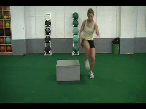 single leg outside leg box jumps