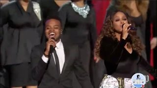 "Chrisette Michele and Travis Greene perform ""Intentional"" live Donald Trump"