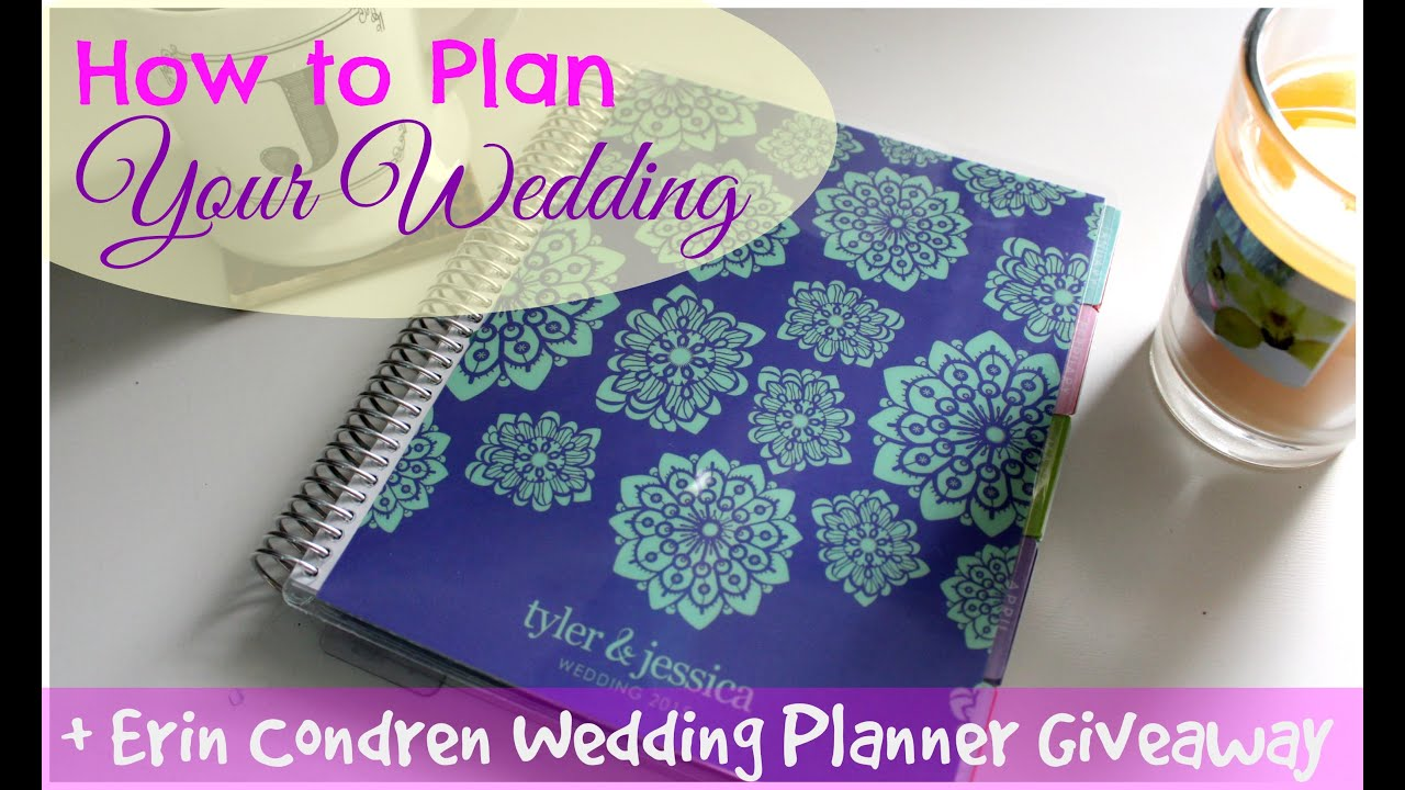 Erin Condren Wedding Planner 2015 Review & Close-ups - YouTube