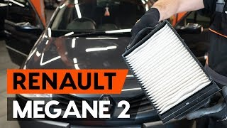 Kuinka vaihtaa raitisilmasuodatin RENAULT MEGANE 2 (LM) -merkkiseen autoon [OHJEVIDEO AUTODOC]