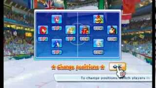 Mario & Sonic at the Winter Olympic Games - Ice Hockey (Single Match)