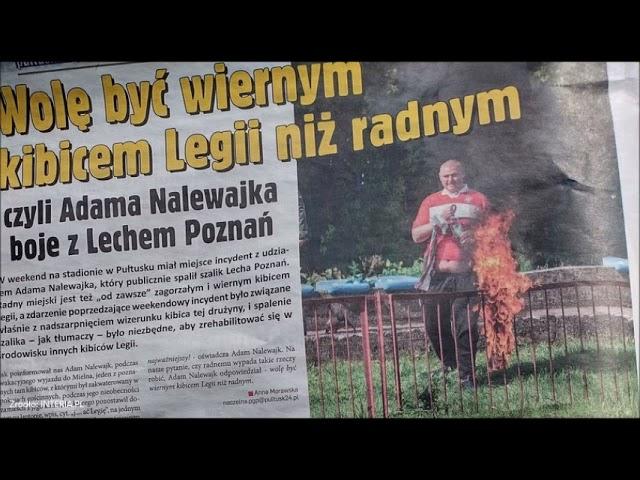 Spalił szalik Lecha...