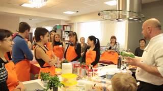 кулинарная школа 'Давинчи' первое занятие часть 1.