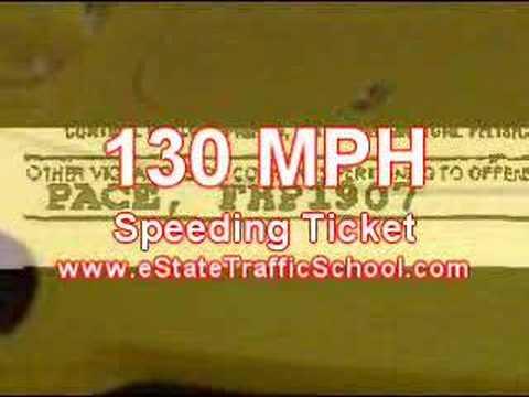 Online Traffic School 130 Mph Speeding Ticket Youtube