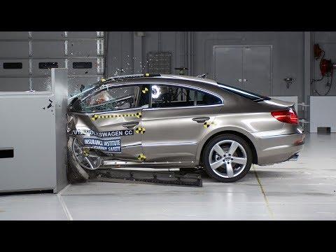 2012 Volkswagen CC driver-side small overlap IIHS crash test