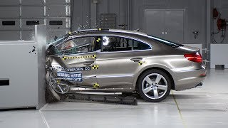 2012 Volkswagen CC driver-side small overlap IIHS crash test