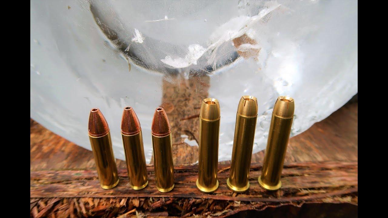 450 Bushmaster vs 4570 GOVT - Shooting ICE BLOCKS!!!