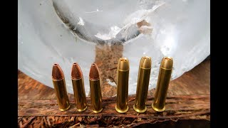 450 Bushmaster vs 4570 GOVT - Shooting ICE BLOCKS!!!