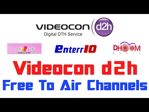 Videocon d2h Free To Air Channels | MPEG4 FTA Channels On Freedish receiver
