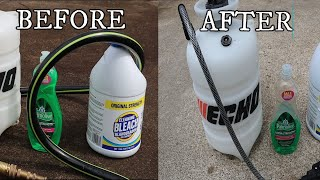 Ugly Concrete? How to clean Concrete w/ out Pressure Washer using household items. Easy Peasy
