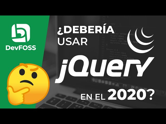 ¿Es todavía relevante jQuery en el 2020?