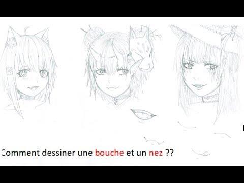 Comment Dessiner Une Bouche Et Un Nez Manga Youtube