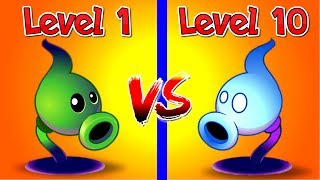 Plants vs Zombies 2 Shadow Peashooter Level 1 vs 10 Max - Attack and Defence , Power UP New Plant