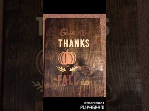 DIY Fall Wall Decor:  Wood Wall Art