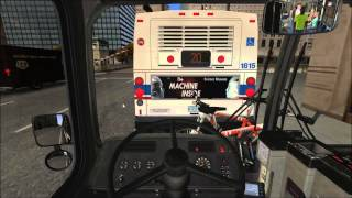 OMSI Chicago -- Round trip on Route 124 with Articulated Bus (HD)