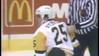 Scott Mellanby vs Kevin Stevens (Penguins Feed)